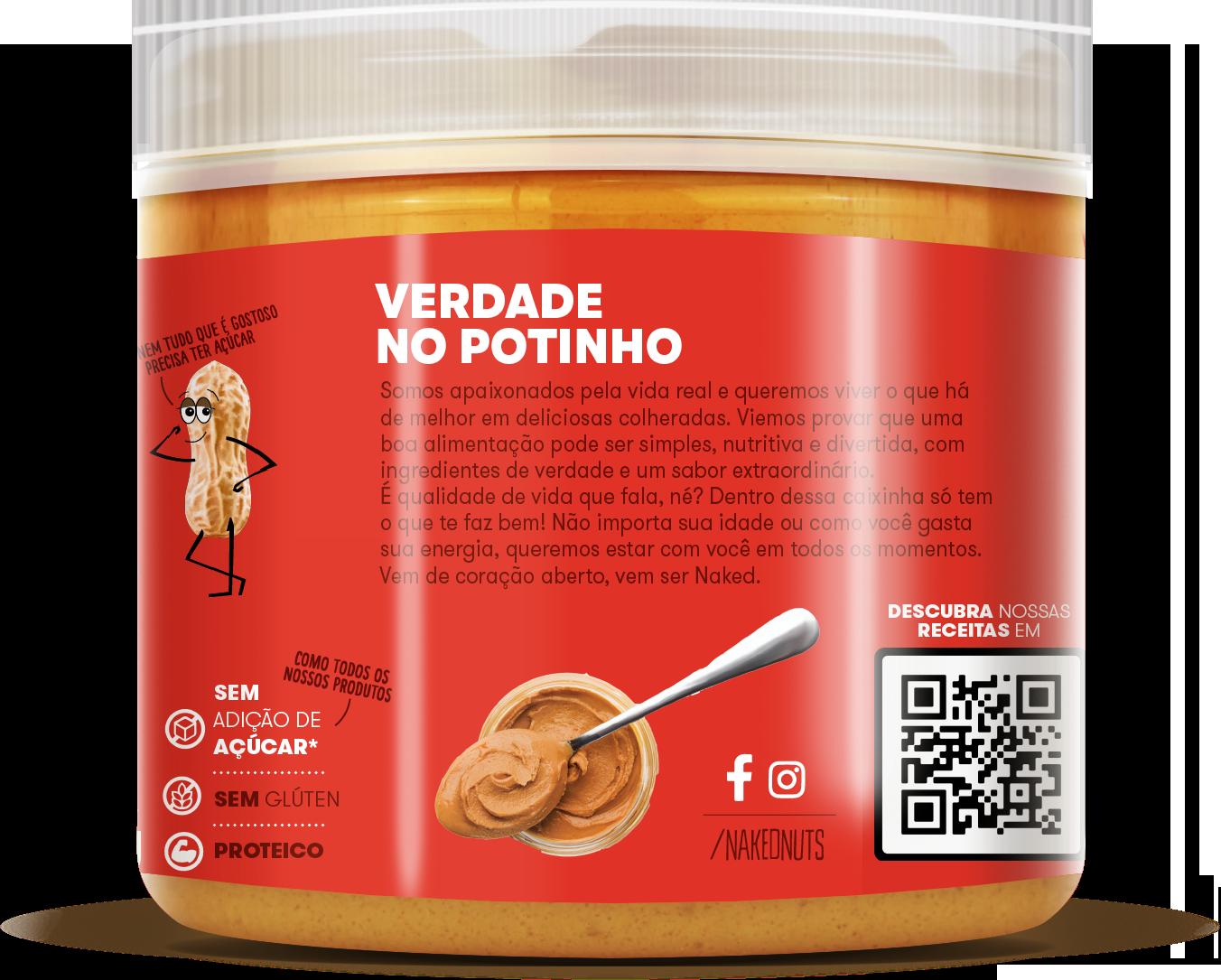 PASTA DE AMENDOIM COM WAFER DE CHOCOLATE 450G NAKED NUTS